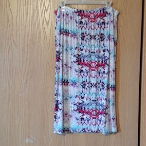 Midi skirt. Tyedye pattern.